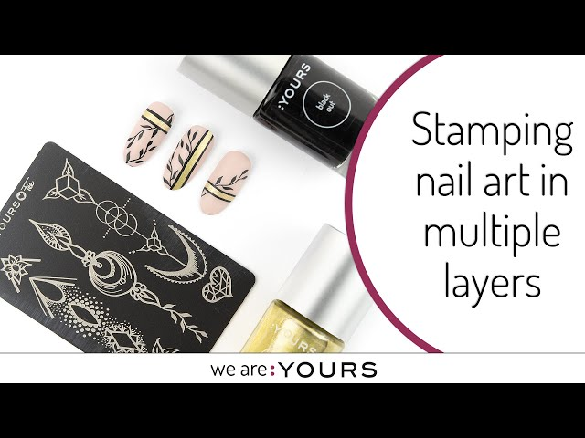 Stamping Nail art in Multiple Layers