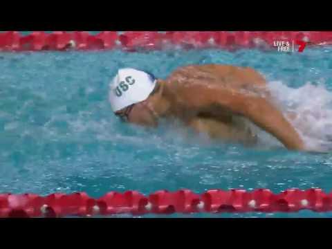 Tim Hodge - 100m Fly Final & medal ceremony - 2017 Hancock Prospecting Australian Swimming Champs