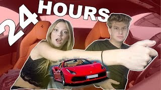 24 HOUR OVERNIGHT CHALLENGE IN MY FERRARI WITH MY GIRLFRIEND!