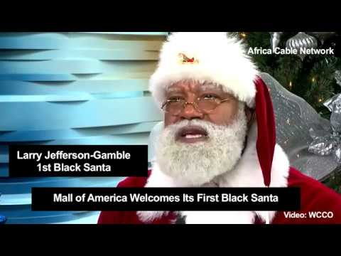 First Ever Black Santa In America
