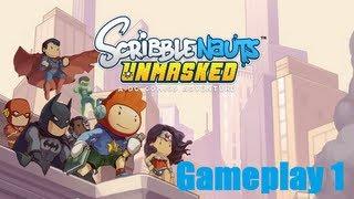 Scribblenauts Unmasked Nintendo 3DS Gameplay 1 + Bat Attack!
