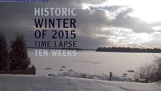 Whole Winter 2015 Time Lapse in Maine