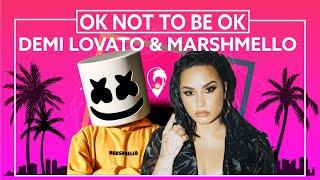 Demi Lovato, Marshmello - OK Not To Be OK (Lost Stories Remix) [Lyric Video]