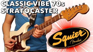 Very Stratisfying! Squier by Fender Classic Vibe '70s Stratocaster Electric Guitar in Olympic White