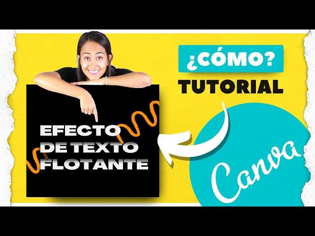 Cómo crear un efecto de texto flotante en Canva (Cómo crear sombras en Canva Pro y Canva Gratis)