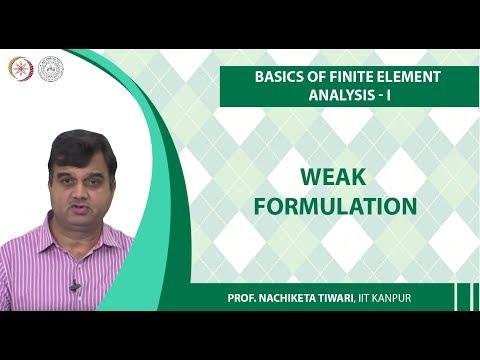 Weak Formulation