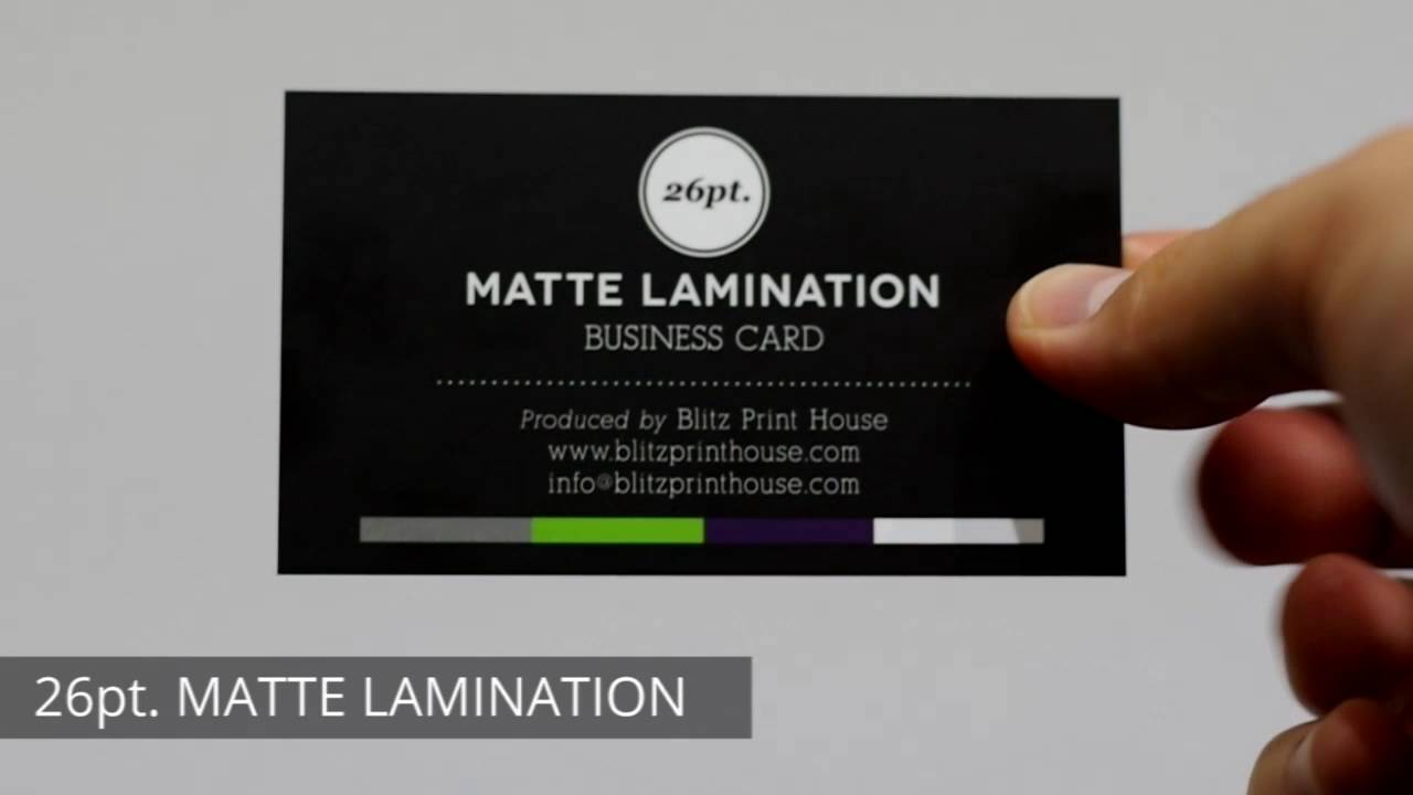 MATTE LAMINATION by Blitz Print House - YouTube