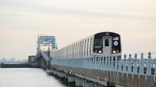 NYCT/Bombardier R179 Ten-Car Test Train @ Broad Channel Bridge