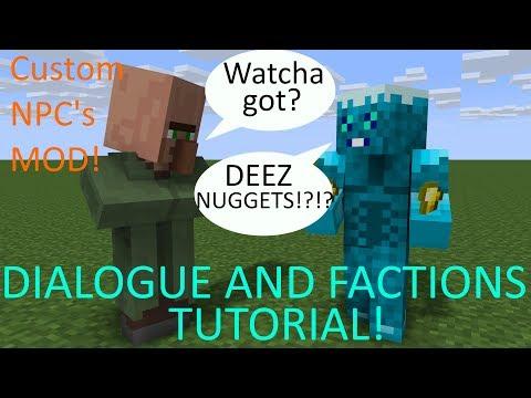 Custom NPC's part 5 dialogue and factions tutorial! : ModdedMC
