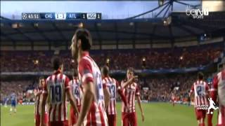 Adrian Lopez Goal ~ Chelsea vs Atletico Madrid 2014 (1-1) ~ Champions League 2014.mp4