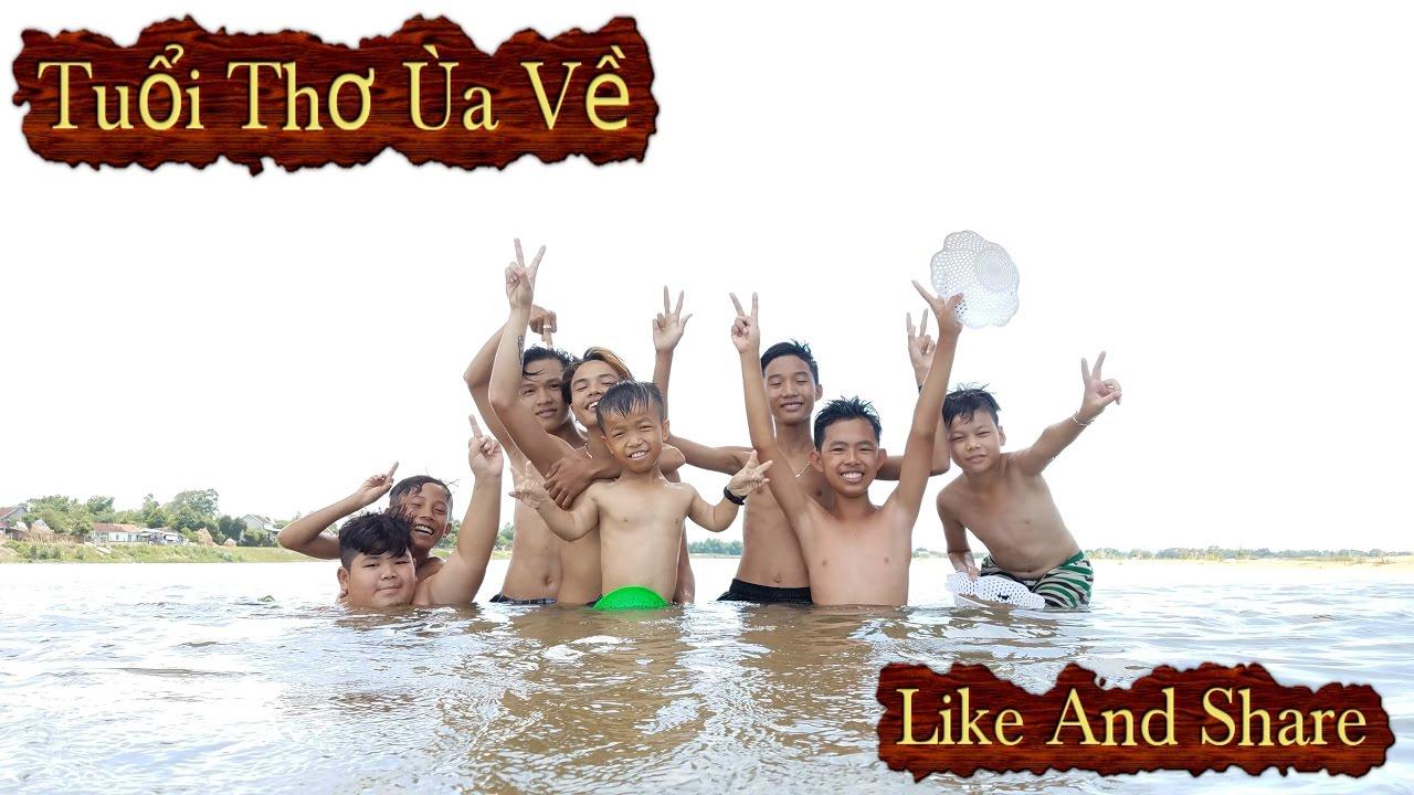 Anh Lùn Cùng Đồng Bọn : Tắm Sông Bắt Hến – tien xinh trai  4K