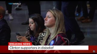 Clinton supporters in disbelief