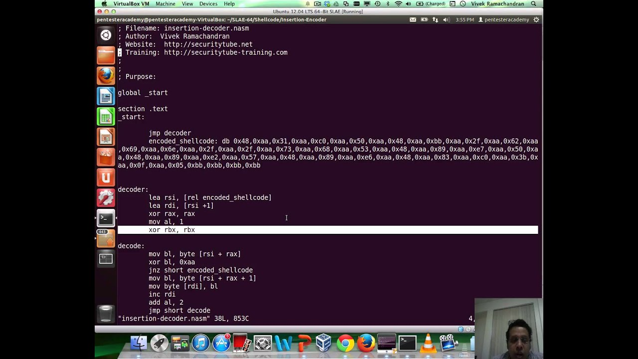 Module 2: Insertion Encoder | x86_64 Assembly Language and