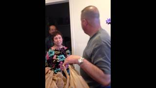 Surprising Dad with Gramma and Grampa