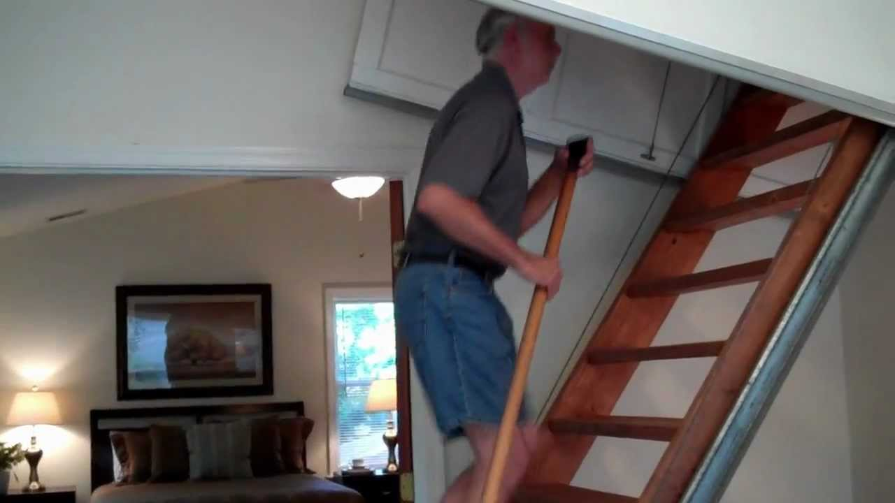 6627 Barrett Road Automatic Attic Stairs Youtube