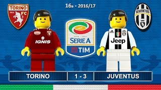 Torino Juventus 1-3 • Derby di Torino • Serie A 2017 (11/12/2016) goal sintesi Lego Calcio Toro Juve