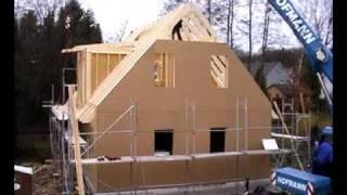 Montage Rohbau - Passivhaus   Energiesparhaus KfW 40