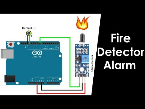 Fire/flame Detector using Flame Sensor and Arduino