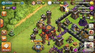 Clash of Clans troll farming base! You LOSE MORE TROOP than you think :v