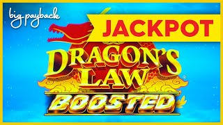 JACKPOT HANDPAY! Dragon's Law Boosted Slot - FINALLY, IT HAPPENED!