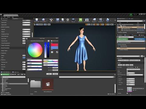 UE4 Cloth Simulation Plugin and 3D Draper (beta)