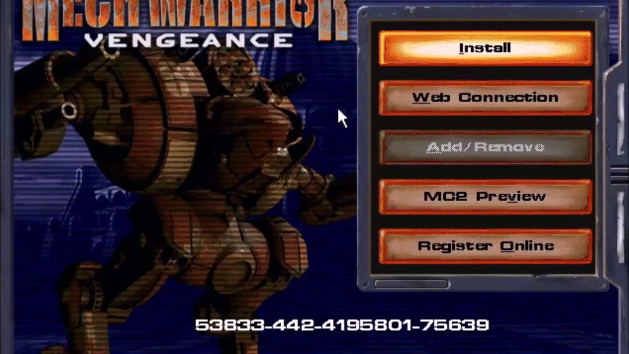 MechWarrior 4: Vengeance Install