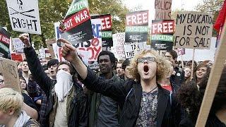 В Лондоне студенты требуют отмены платы за образование
