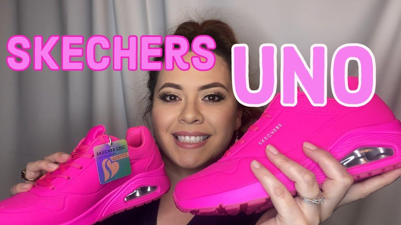 Skechers Uno Neon Nights Sneaker - YouTube