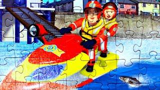 Пожарный Сэм и Пенни - собираем пазлы для детей с героями мультфильма  Fireman Sem | Danik and Lesha