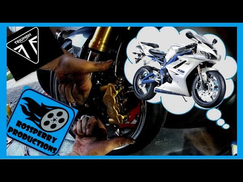 Triumph Daytona  Triple How To Replace Brake Pads Nissin Calipers Installation Tutorial