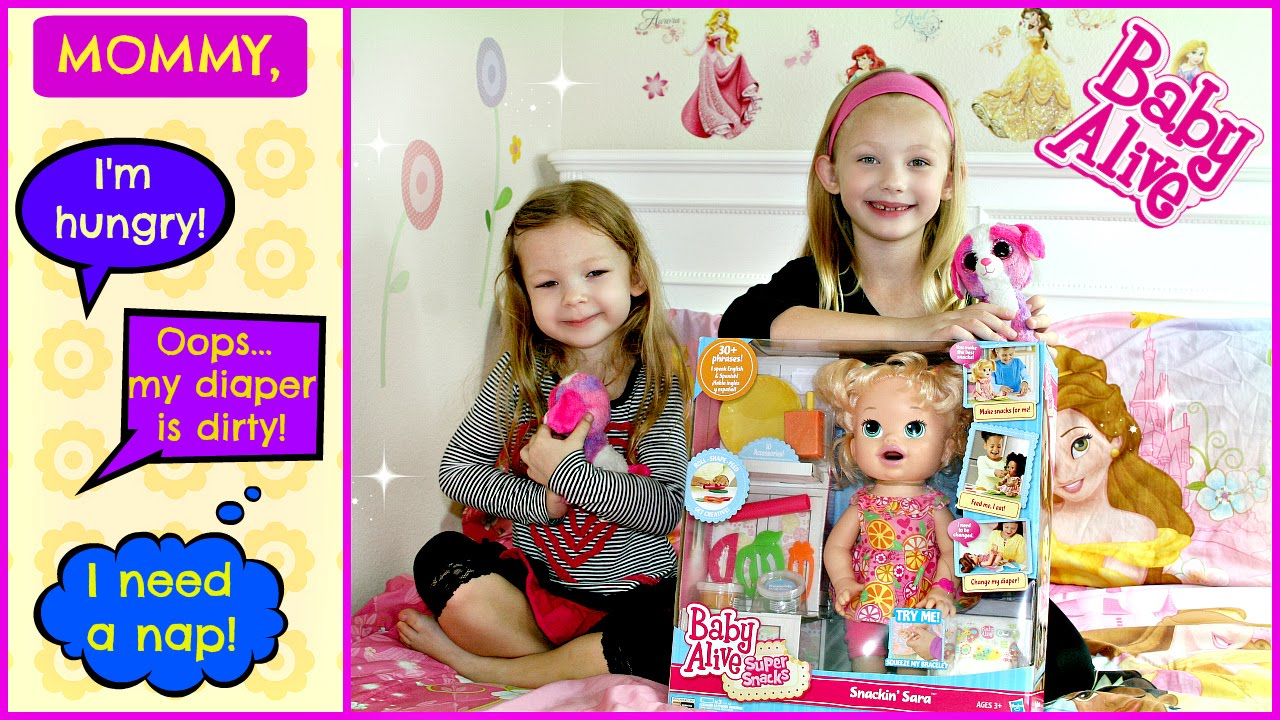 Baby Alive Snackin Sara Play Doh Super Snacks Baby Eating