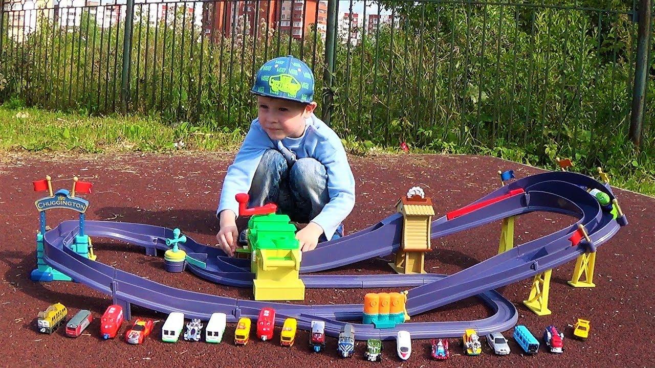паровозики чаггингтона трек железная дорога и поезда игрушки для мальчиков детское видео для детей