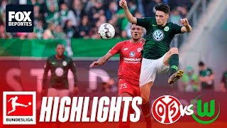 Wolfsburg 3-0 Mainz | HIGHLIGHTS | Jornada 22 | Bundesliga