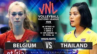 Belgium Vs Thailand | Highlights | Women's VNL 2019