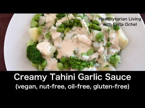 Creamy Garlic Tahini Sauce (whole Food Vegan, Oil-free)