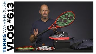 First look at extended Yonex VCORES, a Pro Staff 90 & a sneak peek of a new racquet -- VLOG #613