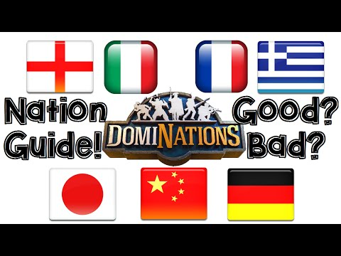 DomiNations Android/iOS Game Nations Guide: The Best, And Worst Countries!
