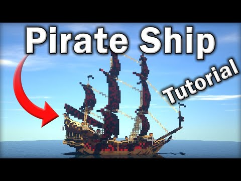 🏴‍☠️ Minecraft Tutorial: How To Make An EPIC Pirate Ship (Queen Anne's Revenge)