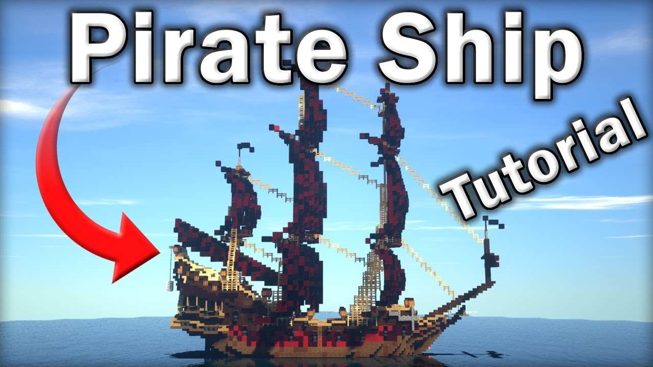 🏴☠️ Minecraft Tutorial: How to Make an EPIC Pirate Ship (Queen Anne's Revenge)
