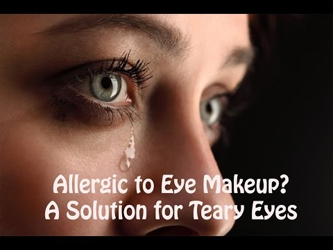 Allergic to Urban Decay, Morphe, Lime Crime?  A Solution for Teary Eyes!
