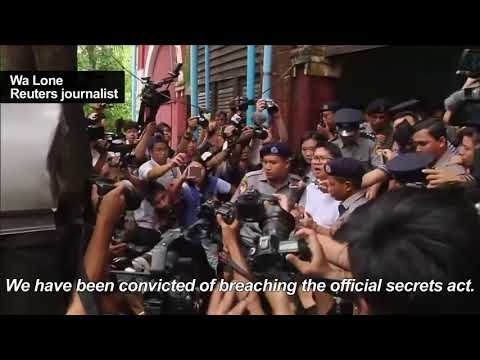 Reuters reporters jailed for seven years