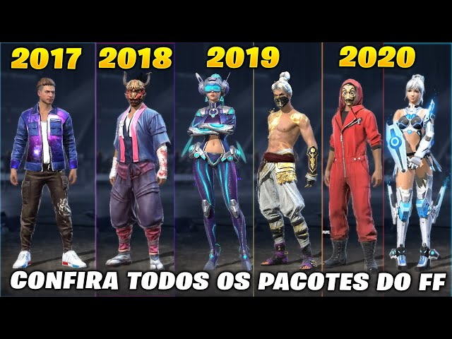 Confira Todos os Pacotes do Free Fire desde 2017 a 2020 - FREE FIRE ALL PACKAGES
