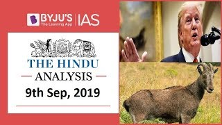 'The Hindu' Analysis for 9th September, 2019 (Current Affairs for UPSC/IAS)