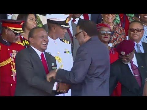 UHURU KENYATTA ARRIVAL AT NAMIBIA INDEPENDENCE DAY CELEBRATIONS