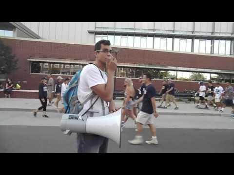 Street Preaching at Penn State
