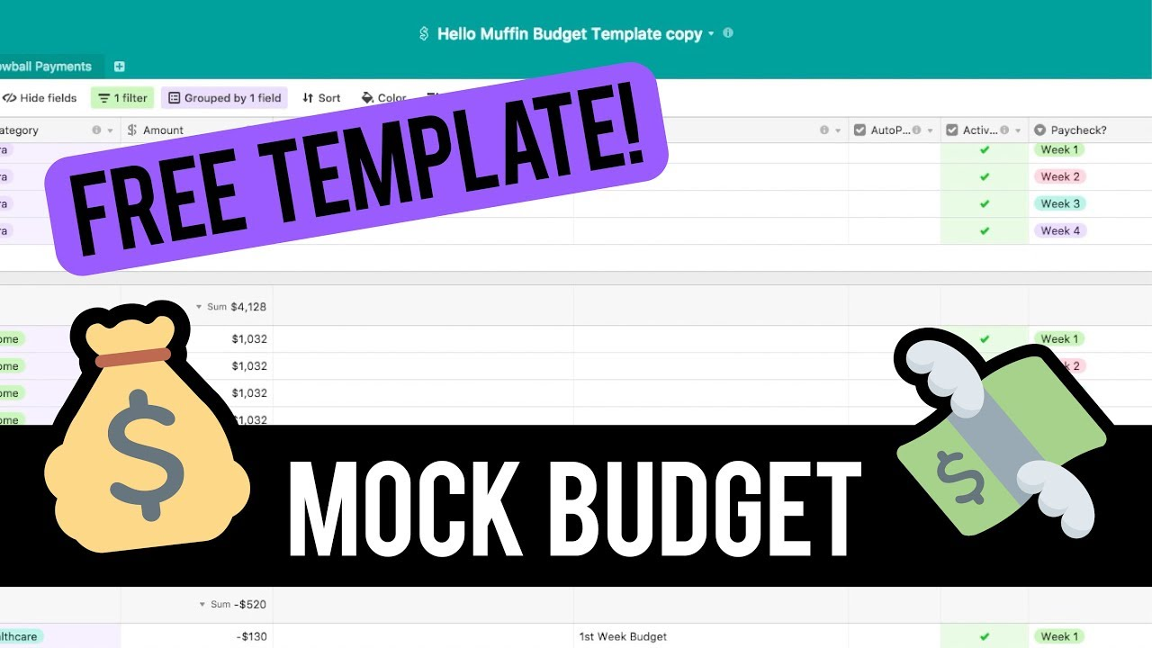 mock budget free template budget with me dave ramsey cash