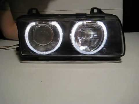 bmw e36 scheinwerfer schwarz inpro standlichtringe. Black Bedroom Furniture Sets. Home Design Ideas