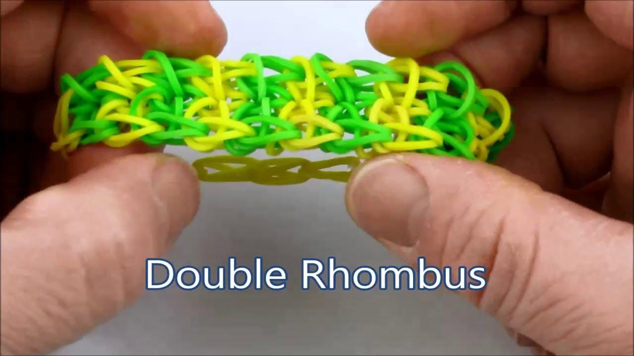 How to make the Double Rhombus bracelet on the Rainbow ...