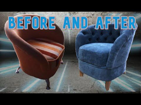 КРЕСЛО своими руками/реставрация мебели/DIY/Chair With His Hands, The Restoration ИЗГОТОВЛЕНИЕ
