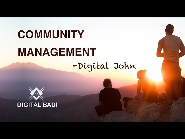 Community Management in Telugu || Digital John